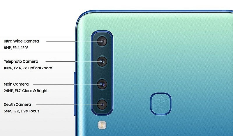 4 камеры смартфона Samsung Galaxy A9