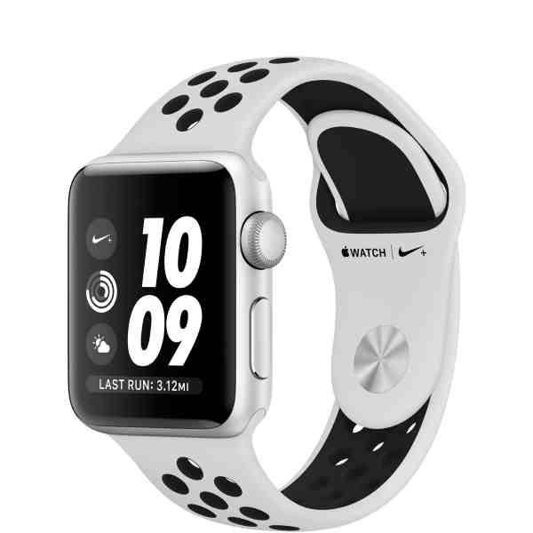Apple Watch Nike+ Series 3 GPS 38mm Silver Aluminum Case with Pure Platinum/Black Nike Sport Band