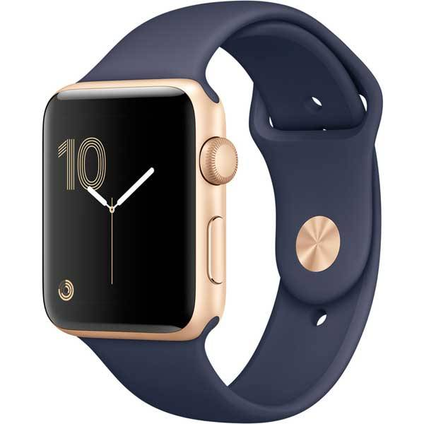 Умные часы Apple Watch Series 2 42mm Gold Aluminum Case with Midnight Blue Sport Band