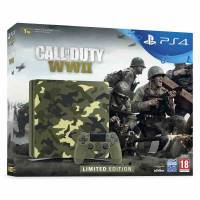 Игровая консоль SONY PS4 CUH-2116B 1000GB SLIM + Call of Duty: WWII Limited Edition