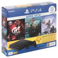 Игровая консоль PlayStation 4 1TB Horizon Zero Dawn+ GTS+God Of War+PS+ 3 мес.