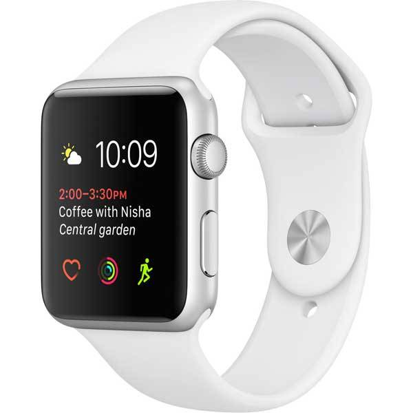 Умные часы Apple Watch Series 1 42mm Silver Aluminum Case with White Sport Band