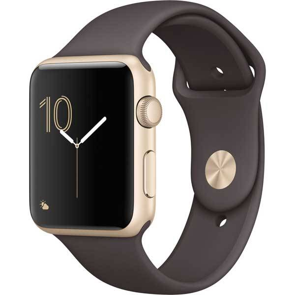 Умные часы Apple Watch Series 1 42mm Gold Aluminum Case with Cocoa Sport Band