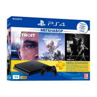 Игровая консоль SONY PS4 1000GB SLIM + Detroit + Last Of Us + Horizon