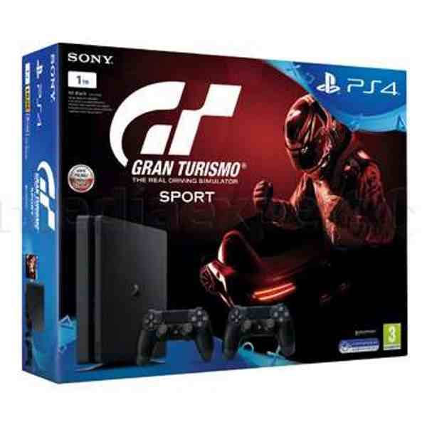 Игровая консоль SONY PS4 1000GB SLIM + Gran Turismo + 2 dualshock