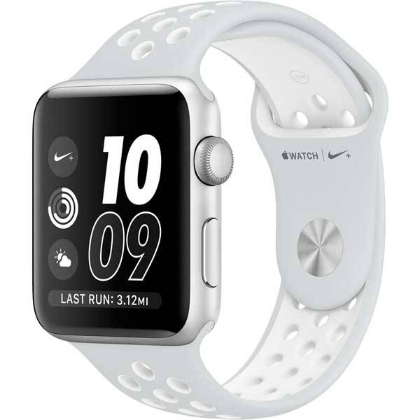Умные часы Apple Watch Nike+ 42mm Silver Aluminum Case with Flat Silver/White Nike Sport Band