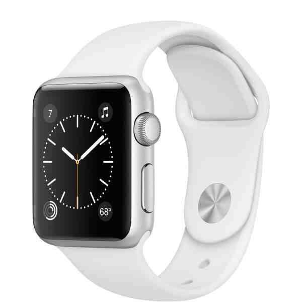 Apple Watch Series 2 38mm Silver Aluminum Case with White Sport Band