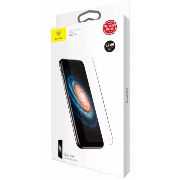 Защитное стекло Baseus Slim Tempered Glass 0.2mm (SGAPIPHX-ASB02) для Apple iPhone X (Transparent)