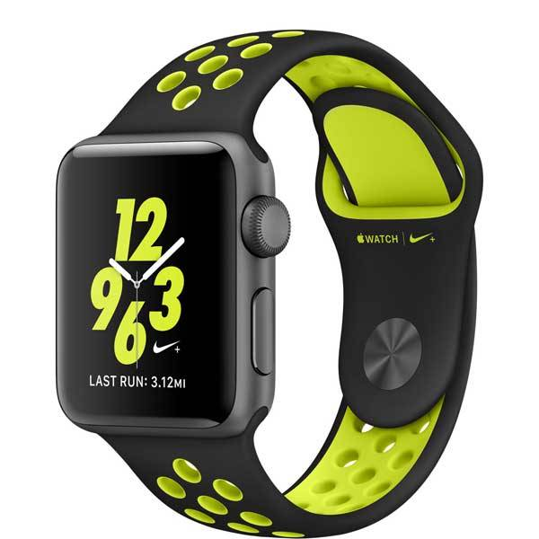 Умные часы Apple Watch Nike+ 38mm Space Gray Aluminum Case with Black/Volt Nike Sport Band