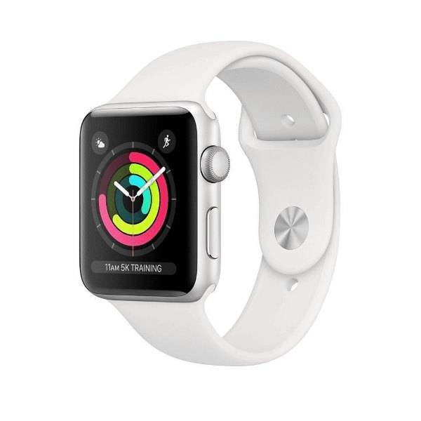 Умные часы Apple Watch Series 3 42mm Aluminum Case with White Sport Band
