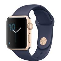 Apple Watch Series 1 38mm Gold Aluminum Case with Midnight Blue Sport Band