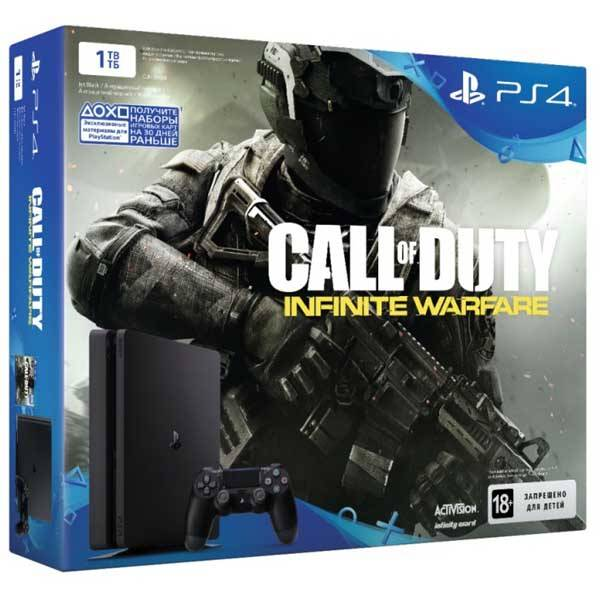 Sony PlayStation 4 Slim 1 ТБ + CALL OF DUTY: INFINITY WARFARE