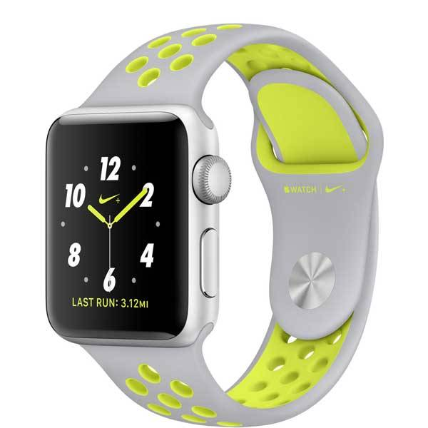 Часы Apple Watch Nike+ 38mm Silver Aluminum Case with Flat Silver/Volt Nike Sport Band