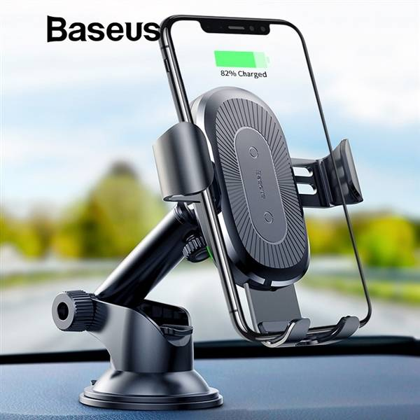 АЗУ Baseus Metal Wireless Charger Gravity Car Mount