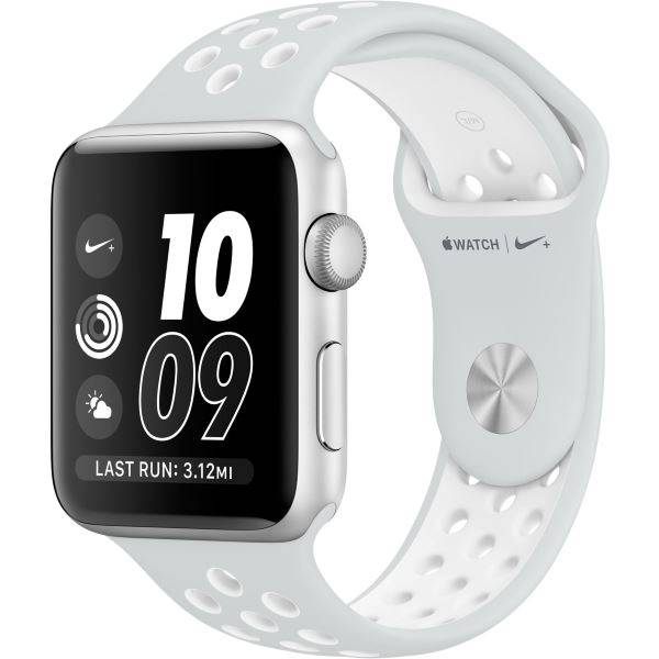 Apple Watch Nike+ 42mm Silver Aluminum Case with Pure Platinum/White Nike Sport Band