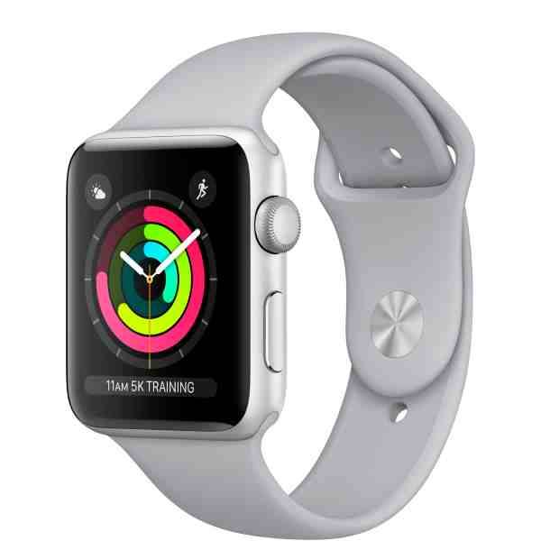 Умные часы Apple Watch Series 3 GPS 42mm Silver Aluminum Case with Fog Sport Band